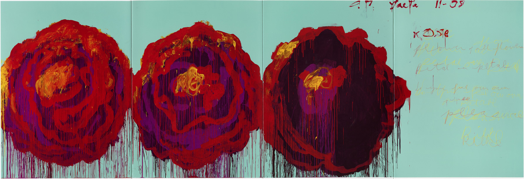 The rose %28iv%29  2008  acrylic on plywood 99 14 x 291 14 inches %28252 x 740 cm%29 original
