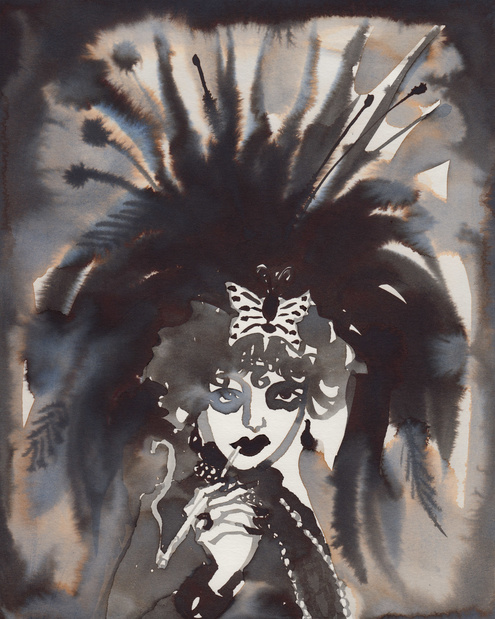 Gill button marisa berenson dressed as marchesa casati courtesy the artist and less is more projects copie medium