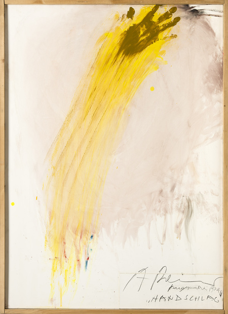 Arnulf rainer handschlag medium