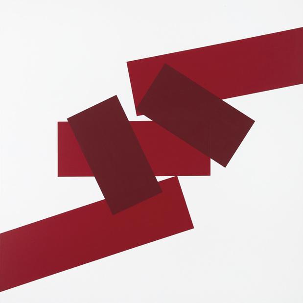 A 5 rectangles 2 rouges peinture sur toile  15 09 07  100 x 100 cm medium
