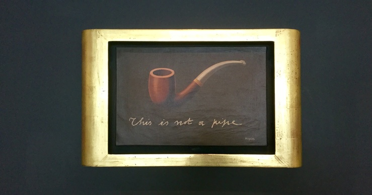 René Magritte, This is not a Pipe, 1935