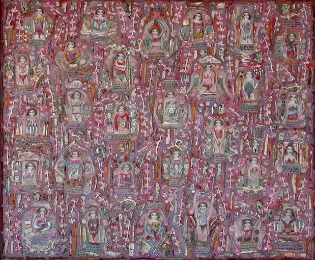 Outsider art fair 2016 marie morel   tu es si belle   galerie polysemie medium
