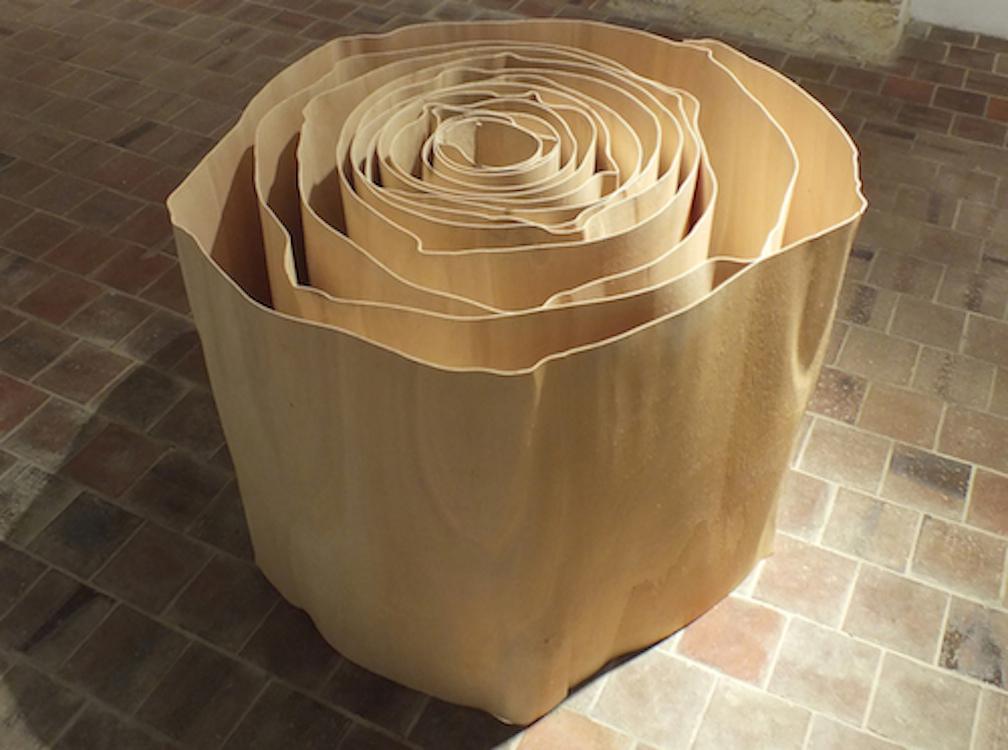 Effloresence 2012  bois d%c3%a9roul%c3%a9  diam 140cm  hauteur 70cm original