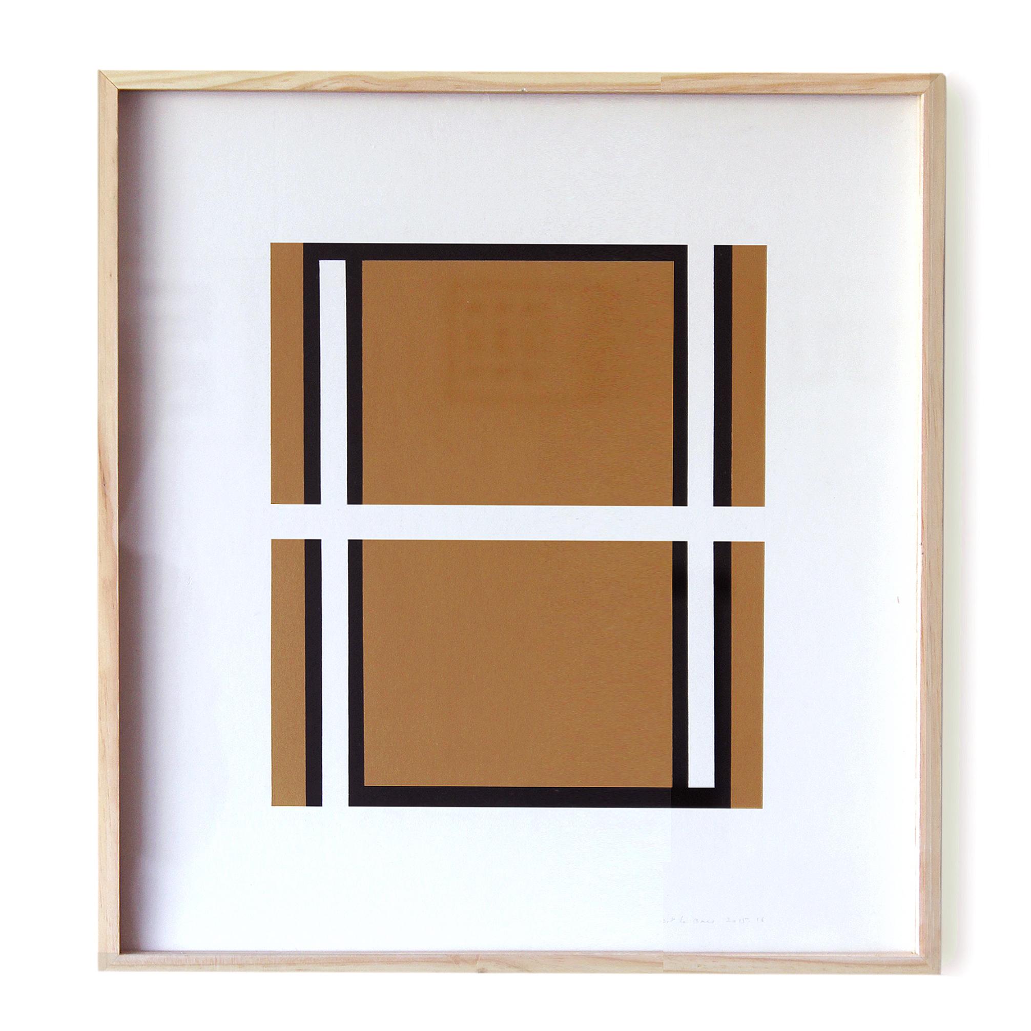 Jean pierre le bars  sans titre  2015 2016  acrylique sur papier  32 x 30 cm original