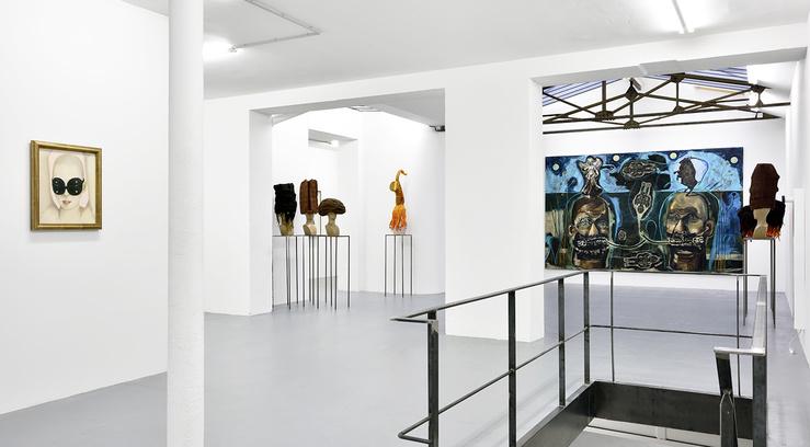 Vue de l'exposition En marge, janvier 2017, galerie In Situ—Fabienne Leclerc, Paris