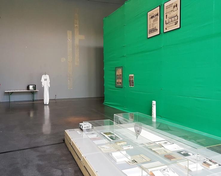 Vue de l'exposition 1977 au centre d'art de l'Onde, Vélizy, 2017