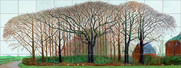 David hockney bigger trees near warter or... 2007 huile peinte sur 50 toiles david photo prudence cuming associates collection tate london medium