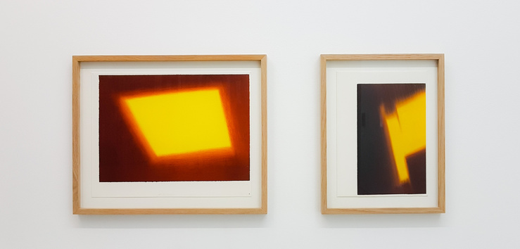 Vue de l'exposition Koka Ramishvili à la galerie Eva Meyer, Paris, 2017