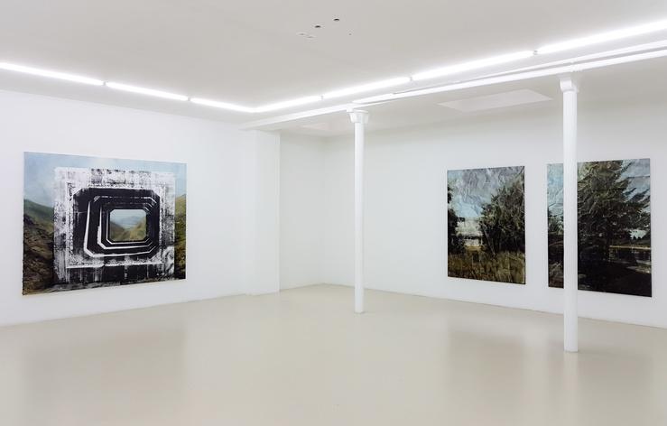 Eva Nielsen, vue de l'exposition Les Fonds de l'œil, galerie Jousse Entreprise, 2017