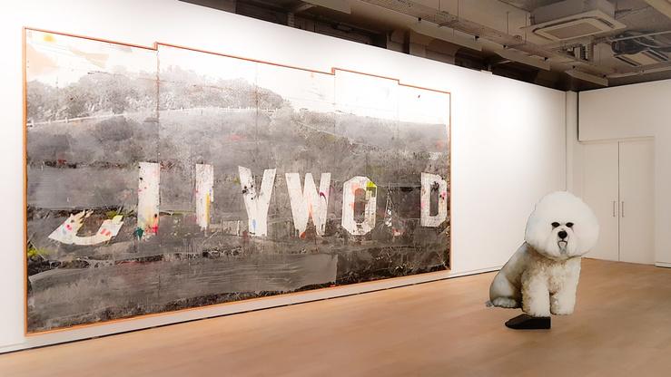 Vue de l'exposition Ida Tursic & Wilfried Mille, Bianco Bichon… à la fondation Ricard, 2017