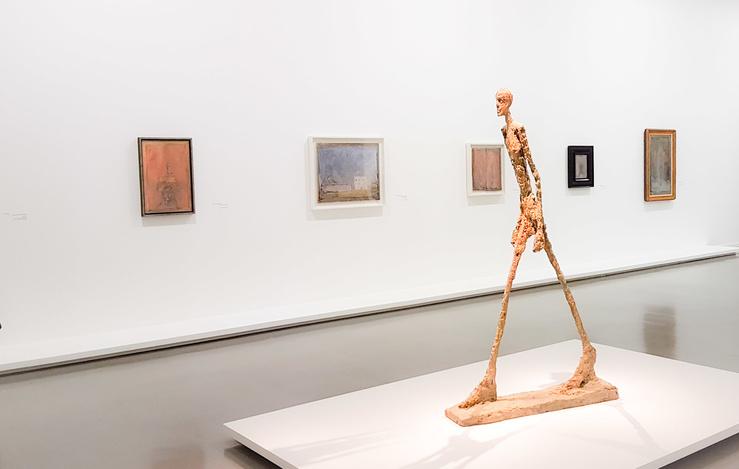 Vue de l'exposition Derain, Balthus, Giacometti, Une amitié artistique au Musée d'Art moderne de la Ville de Paris, 2017