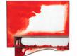 Claire jeanne jezequel sans titre 2017, encre sur papier et peinture sur verre, plomb, adhesif, 74 x 80 cm original grid