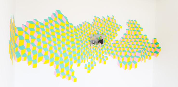 Anne Brégeaut, vue de l'exposition O ! Watt up ? à la Maison d'art Bernard Anthonioz, Nogent, 2017