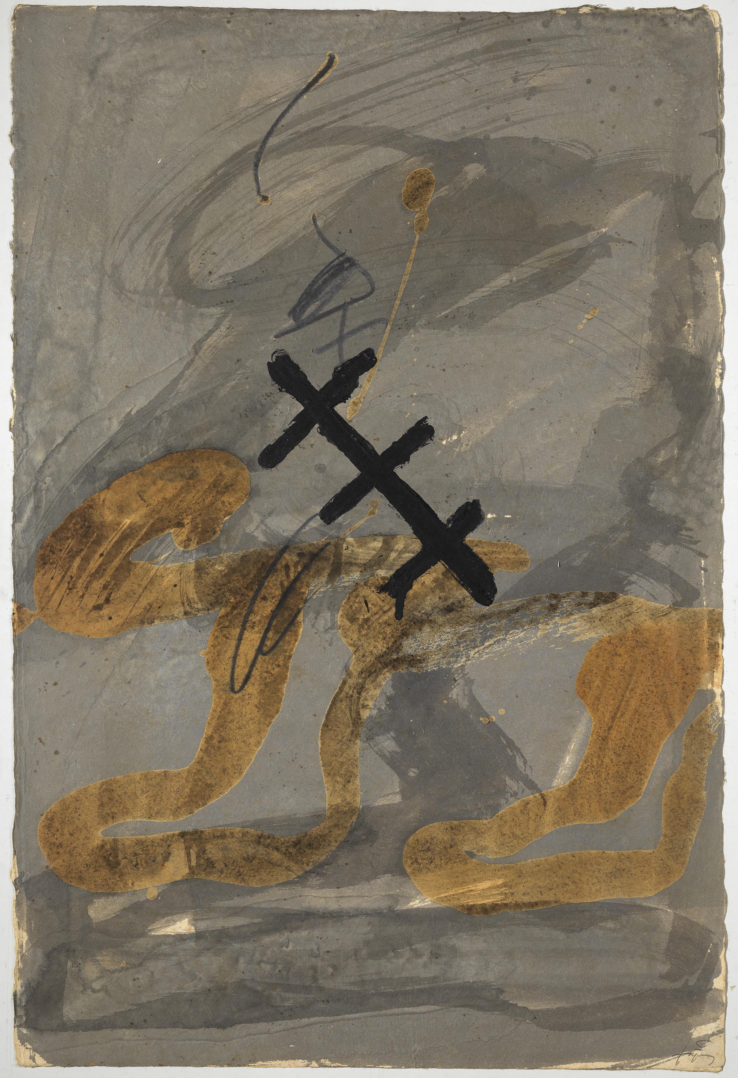Antoni tapies temps matiere memoire galerie lelong w19797dospeussobregrishd original