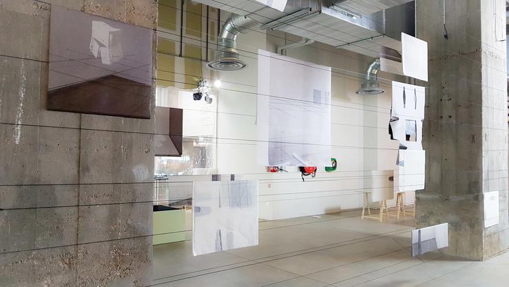 Aurélie Pétrel—Vue de l'exposition The House of Dust by Alison Knowles