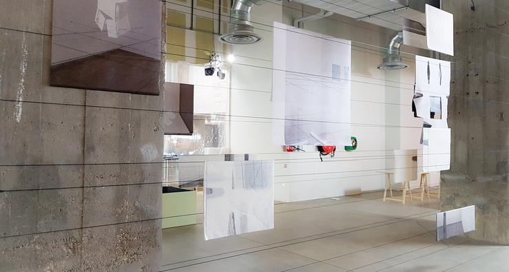 Aurélie Pétrel — Vue de l'exposition The House of Dust by Alison Knowles