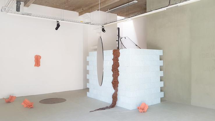 Morgane Tschiember, L'Heure rose, Vue de l'exposition au CAC La Traverse, Alfortville