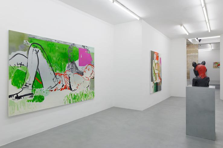 Françoise Pétrovitch, Vue de l'exposition Sonatines en rouge et rose à la Semiose galerie, Paris, du 09.09 au 28.10.2017