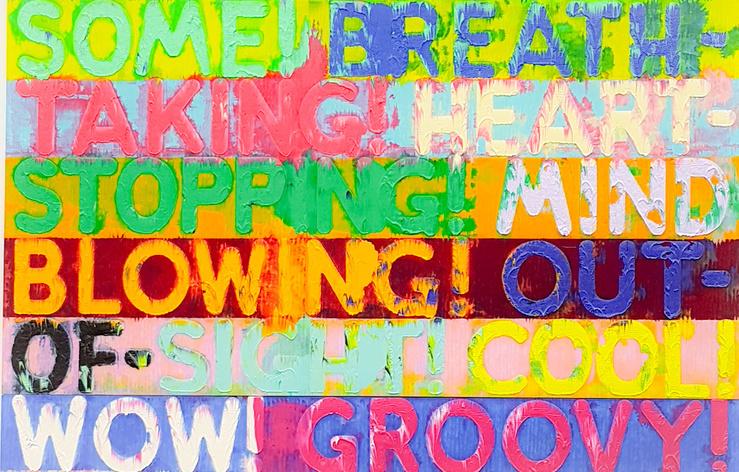 Mel Bochner, Amazing !, 2016 (Détail) Vue du stand de la galerie Simon Lee à la FIAC 2017