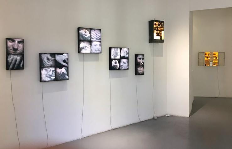 Géraldine Cario, vue de l'exposition Réparation II à la galerie Laure Roynette, Paris, 2017
