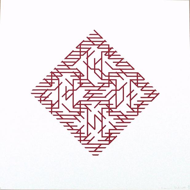 Galerie oniris hors les murs soon paris salon de loeuvre originale numerotee dilworth red diagonal 1971 medium