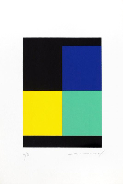 Galerie oniris hors les murs soon paris salon de loeuvre originale numerotee nemours angle noir 1993 medium