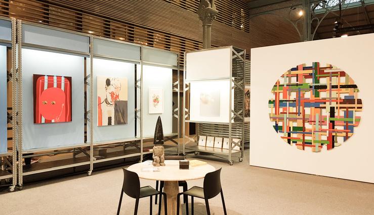 Galeristes 2017, vue du stand de la galerie Semiose, Paris