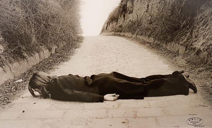 VALIE EXPORT, Vue de l'exposition Body Configurations, 1972-1976, à la galerie Thaddaeus Ropac, Paris