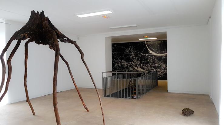 Vue de l'exposition Cécile Beau, La Région vaporeuse à la Maison des arts—Centre d'art contemporain de Malakoff