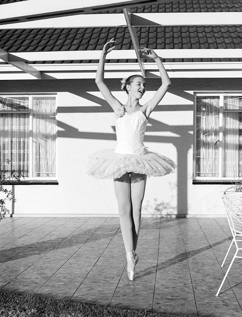 David goldblatt girl in her new tutu on the stoep boksburg 1981 medium
