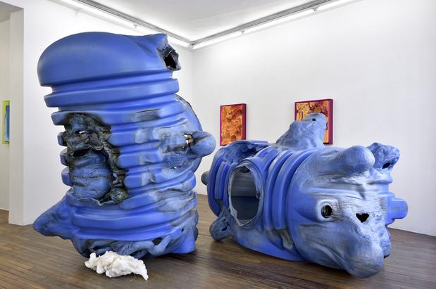 Anita molinero vue de lexposition la grosse bleue galerie thomas bernard 2018 medium