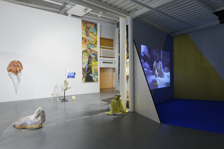 Vue de l'exposition Desk Set (cur : Céline Poulin), CAC Brétigny, France, 2018