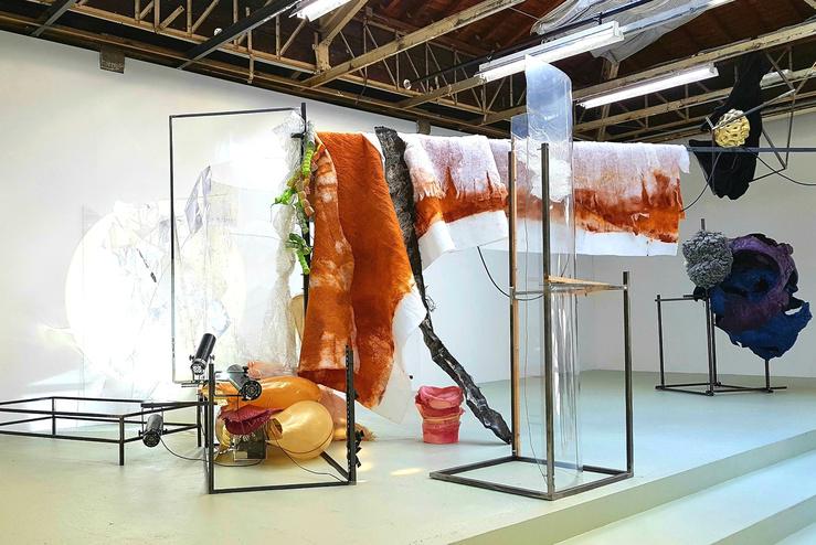 Daiga Grantina, Vue de l'exposition Toll auPalais de Tokyo, 2018