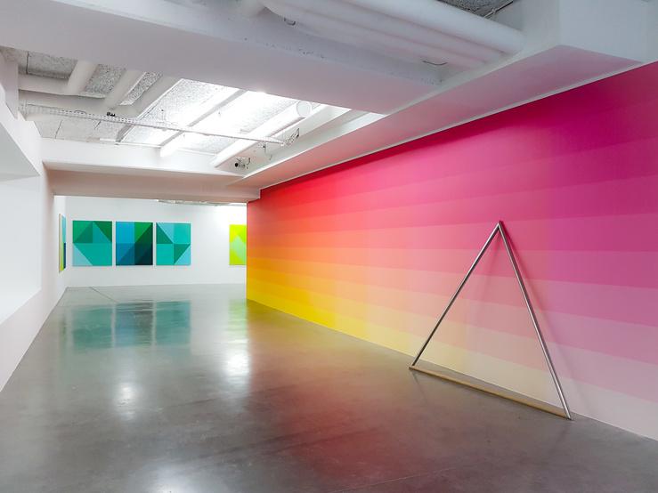 Stéphane Dafflon, Vue de l'exposition U+25A6 au Plateau, Paris, 2018