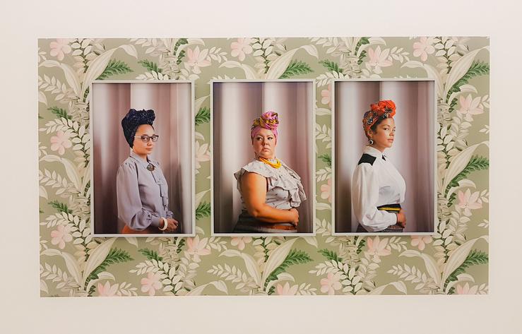 Genevieve Gaignard, vue de l'exposition Hidden Faces à la galerie Praz-Delavallade, Paris, 2018
