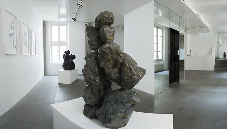 Ma Desheng, vue de l'exposition Entre ciel et terre, A2Z Art Gallery, Paris, 2018