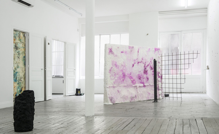 Vue de l'exposition Gaëlle Choisne, Hybris, à la galerie Untilthen, Paris