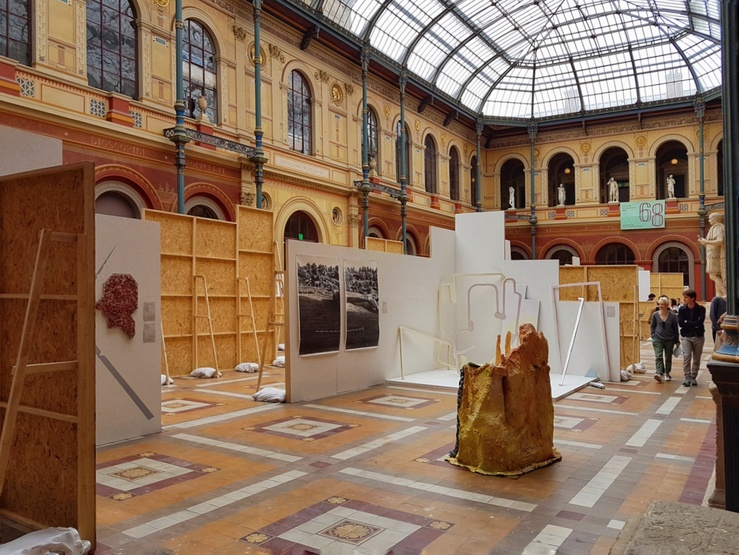 Vue de Jeune Création 2018 aux Beaux-arts de Paris, mai 2018