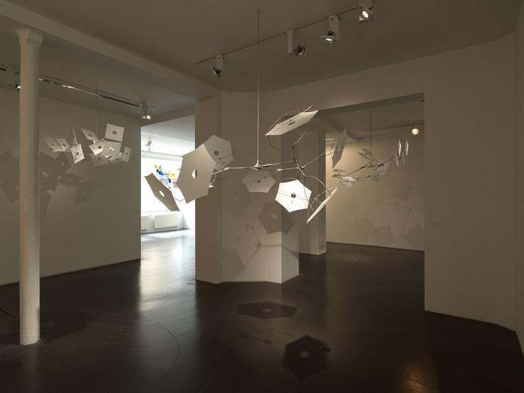 Susumu Shingu, vue de l'exposition Cosmos, galerie Jeanne Bucher Jaeger, Paris, 2018