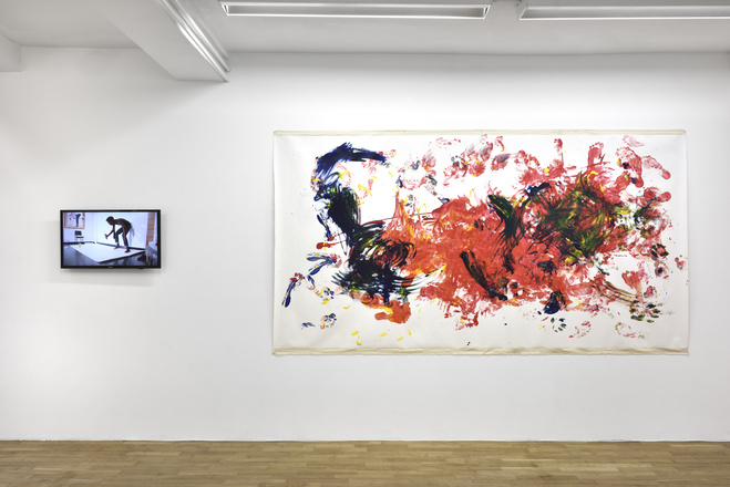 Vue de l'exposition, Posture, Galerie Isabelle Gounod, 2017