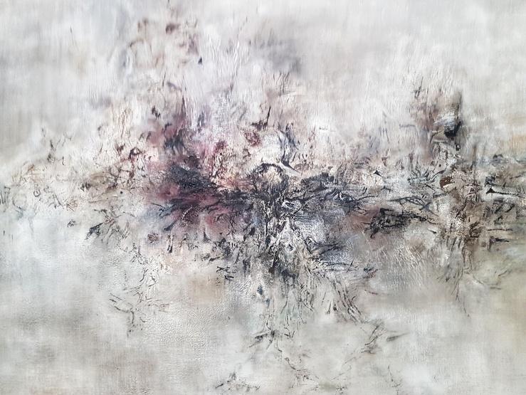 Zao Wou-Ki, vue de l'exposition L'espace est silence au Musée d'Art moderne de la ville de Paris, 2018