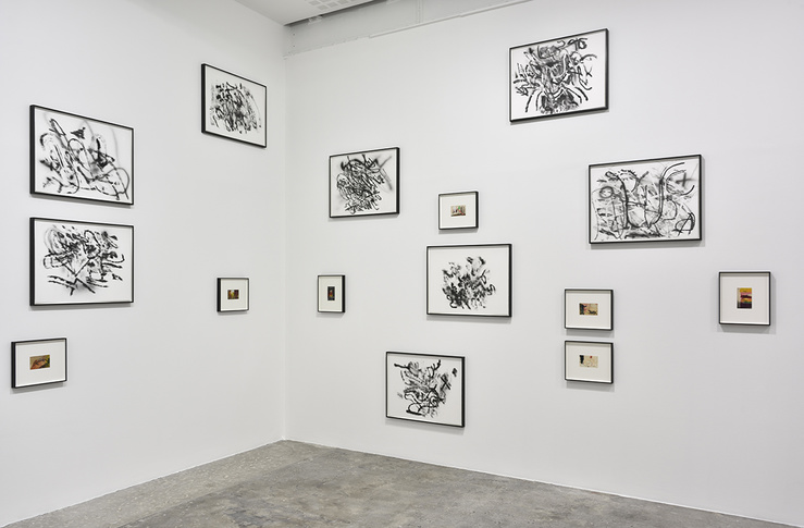 Vue de l'exposition Tacita Dean & Julie Mehretu, galerie Marian Goodman, Paris, 2018