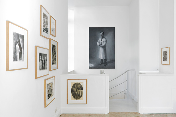 Vue de l exposition call from inside de peter martensen dessins peinture fantom 1 medium