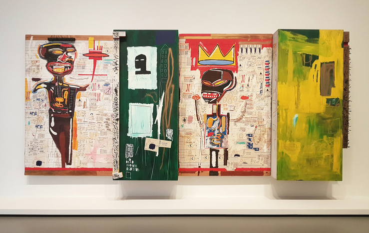 Jean-Michel Basquiat, Grillo, 1984, Vue de l'exposition Jean-Michel Basquiat, Fondation Louis Vuitton, Paris, 2018