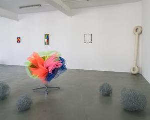 Vue de l'exposition Delphine Coindet, Ventile, 2018