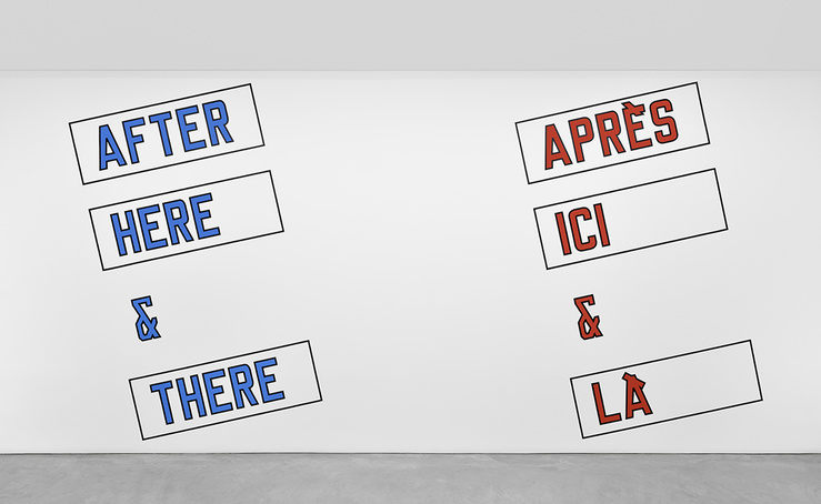 Lawrence Weiner, AFTER HERE & THERE, 1984