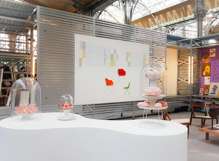 Salon Galeristes 2018, Vue du stand Loevenbruck