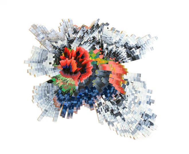 Lyndi Sales, Petuitary gland 11, 2018 — Acrylique sur papier (collage) — 110 × 143 × 3,5 cm