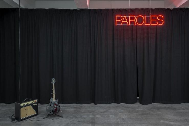 Saâdane Afif, Vue de l'exposition Paroles au Wiels, Bruxelles, 2018