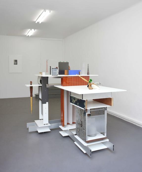 Vue de «La pantoufle invertie», exposition personnelle de Charlie Boisson, Galerie Tator, Lyon, 2018